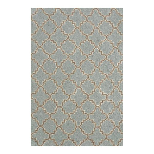 Hooked Plain Tin Slate Wool Micro Contemporary Rug traditional-rugs