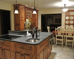 Center island with cooktop and sink kitchen designs - Kitchen island with cooktop and prep sink ...