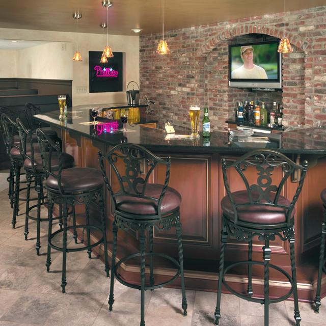 sports basement traditional home bar