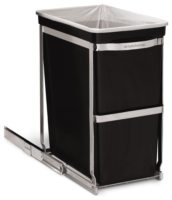 30-Liter Under-Counter Pull-Out Can, Commercial Grade - Modern - Trash Cans - by simplehuman