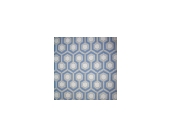 Hicks Hexagon Wallpaper, Blue -