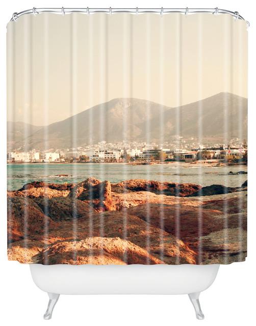 Catherine McDonald Hersonissos Shower Curtain contemporary-shower-curtains