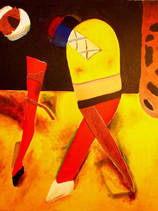 The Dance - Acrylic on canvas, 5' x 6'.