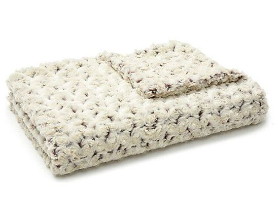 Belle & June - Lux Two-Toned Cream/Chocolate Rosebud Throw - Plush and textured, the luxurious rosebud  two-toned throw would be a great go to blanket for the foot of your bed or to snuggle up with on the couch, alone or with your sweetie. Soft and warm, each little rosebud is stitched together, in two colors, to create this bonny blanket.