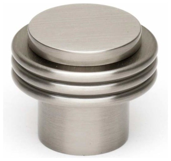 Alno Creations 1 1/8 Inch Knob Satin Nickel A833-18-Sn traditional-cabinet-and-drawer-knobs