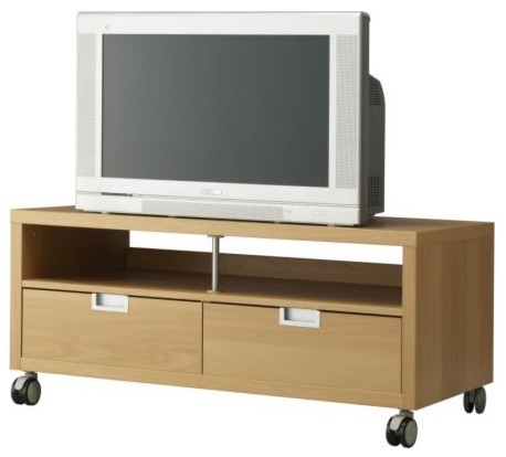 BESTÅ JÄGRA TV unit with casters modern-entertainment-centers-and-tv-stands
