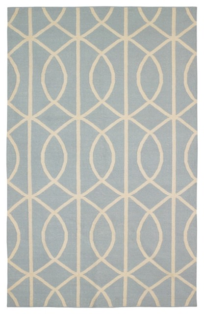 DwellStudio Home Gate Azure/Cream Rug traditional-rugs