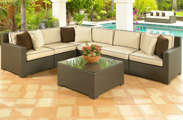 Modern Wicker Sectionals - Outdoor Sectional Patio Furniture