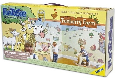 Funberry Farm Nursery and Bedroom Make-Over Decal Kit contemporary-kids-decor