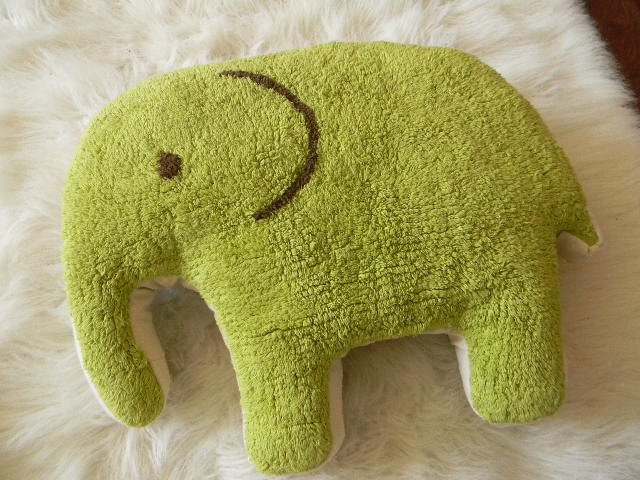 Elephant Rug Pillow by PillowHappy contemporary pillows