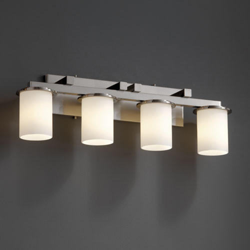 Dakota Fusion Opal Bath Bar by Justice Design transitional-bathroom-vanity-lighting