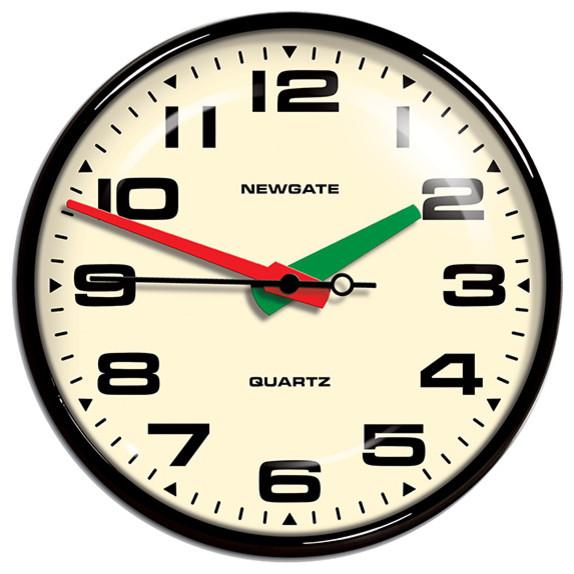 Newgate Clocks Brixton Wall Clock Black Modern