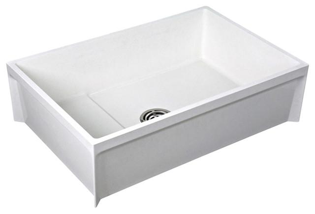 Mop Basins : Fiat MSB3624100 Molded Stone Mop Service Basin modern-bath-products