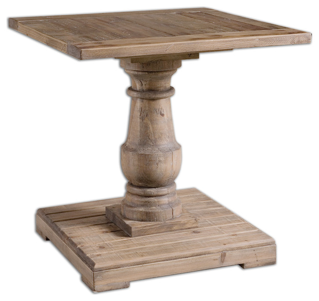 Stratford Pedestal End Table Traditional Side Tables