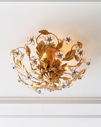 Crystal Flower Light Fixture traditional ceiling lighting