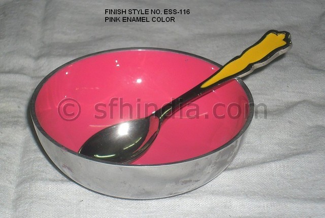 Recycle Aluminium Enamel Bowl contemporary-serving-dishes-and-platters