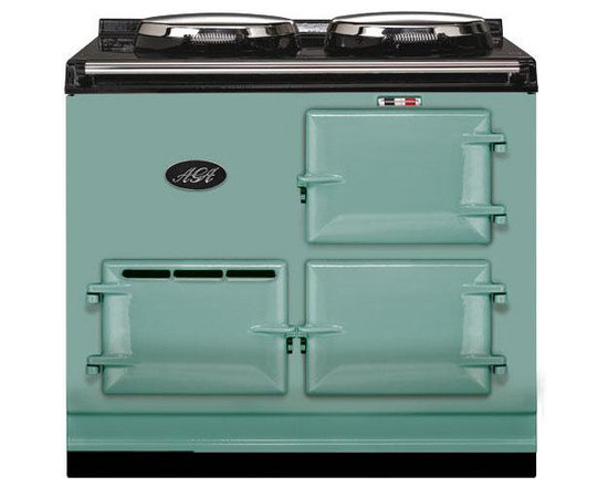 AGA 2 Oven Natural Gas Cooker With Module, Pistachio | A2O-DV-MOD-NG-PIS - The 2-oven AGA cooker provides a truly unique and rewarding cooking experience. With 2 radiant-heat ovens and two hotplates this cooker was designed to accommodate even the busiest of families.