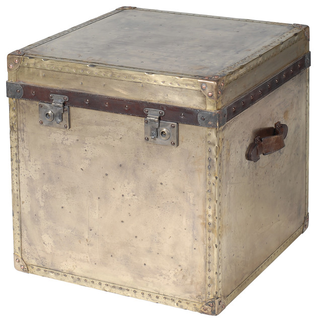 London End Table Trunk, Metal eclectic-side-tables-and-end-tables