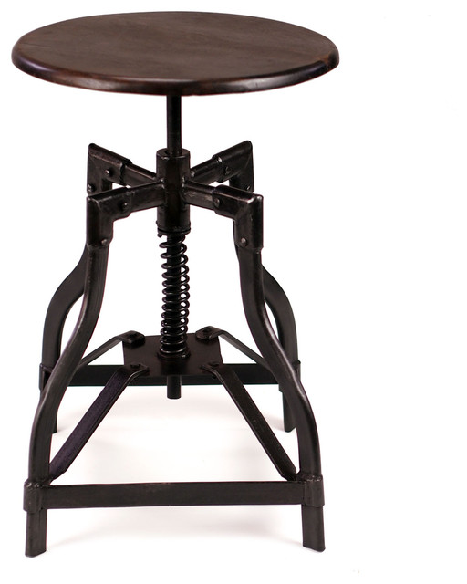 Mcclain Industrial Style Swivel Stool Industrial