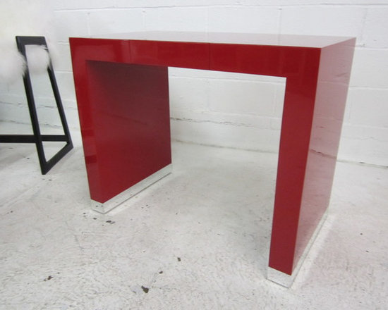 Custom Red Lacquer Console -