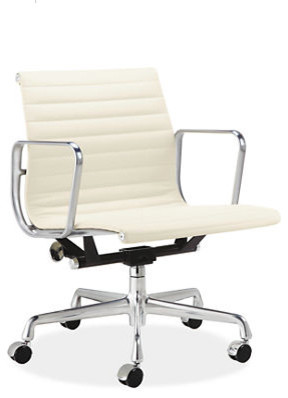 Eames Aluminum Management Group Leather Chair modern task chairs
