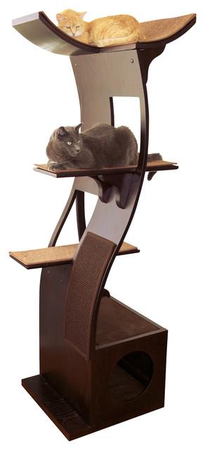 Lotus Cat Tower contemporary-pet-supplies