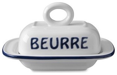Bistro Francais Butter Dish contemporary food containers and storage