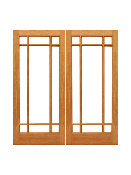 "9-Marginal French Brazilian Mahogany IG Glass Double Door - SKU#    9-Marginal-Ext-2Brand    AAWDoor Type    FrenchManufacturer Collection    Mahogany French DoorsDoor Model    Door Material    WoodWoodgrain    MahoganyVeneer    Price    820Door Size Options    2(30"") x 80"" (5'-0"" x 6'-8"")  $02(32"") x 80"" (5'-4"" x 6'-8"")  $02(36"") x 80"" (6'-0"" x 6'-8"")  $02(30"") x 96"" (5'-0"" x 8'-0"")  +$1602(32"") x 96"" (5'-4"" x 8'-0"")  +$1602(36"") x 96"" (6'-0"" x 8'-0"")  +$160Core Type    SolidDoor Style    Door Lite Style    9 Lite , Marginal , Full LiteDoor Panel Style    Ovolo StickingHome Style Matching    Craftsman , Colonial , Cape Cod , VictorianDoor Construction    Engineered Stiles and RailsPrehanging Options    Prehung , SlabPrehung Configuration    Double DoorDoor Thickness (Inches)    1.75Glass Thickness (Inches)    1/2Glass Type    Double GlazedGlass Caming    Glass Features    Insulated , Tempered , low-E , Beveled , DualGlass Style    Clear , White LaminatedGlass Texture    Clear , White LaminatedGlass Obscurity    No Obscurity , High ObscurityDoor Features    Door Approvals    FSCDoor Finishes    Door Accessories    Weight (lbs)    680Crating Size    25"" (w)x 108"" (l)x 52"" (h)Lead Time    Slab Doors: 7 daysPrehung:14 daysPrefinished, PreHung:21 daysWarranty    1 Year Limited Manufacturer WarrantyHere you can download warranty PDF document."
