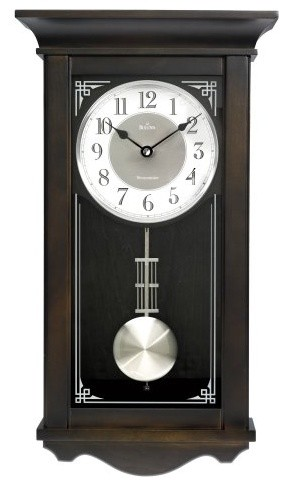 Bulova Elsmere Wall Chime Clock - 11-in. Wide contemporary-clocks