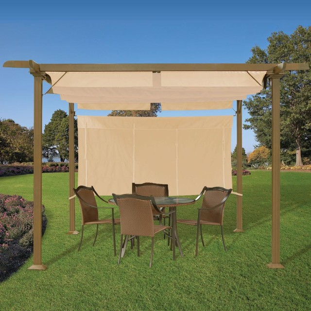 Pergola with Adjustable Shades contemporary gazebos