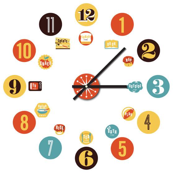 Time Two Sticku0026#39;A Clock Decal - Modern - Kids Clocks - by Chocovenyl