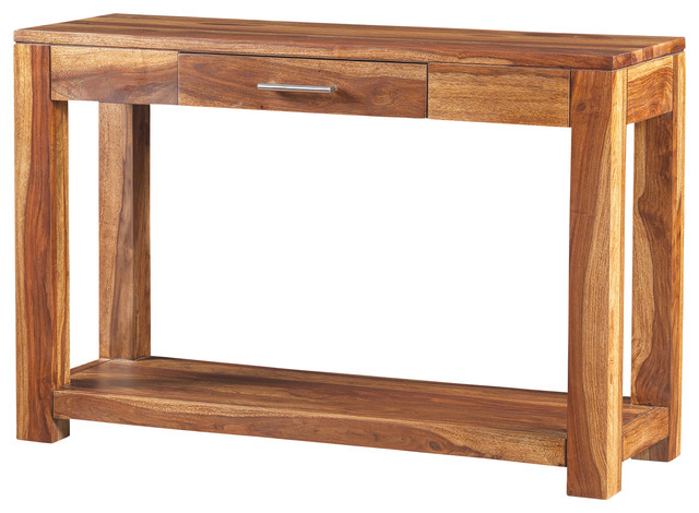Tamarai Console Table Made of Rosewood , Light Brown ...