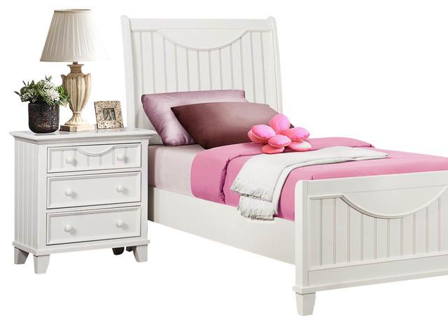 Homelegance alyssa 2 piece kids 39 panel bedroom set in - Kids white bedroom furniture ...