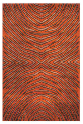 """New Wave Rust Area Rug - 9'6"""" x 13'6"""" traditional-rugs"""