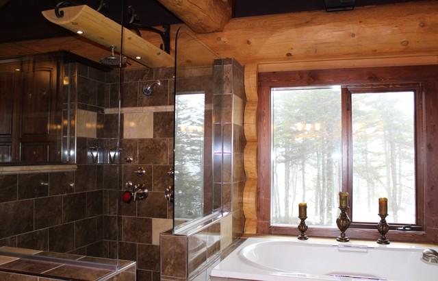 Bauline Model Home rustic-bathroom