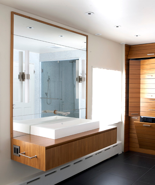 New Jersey Master Bath Renovation contemporary-bathroom-vanities-and-sink-consoles