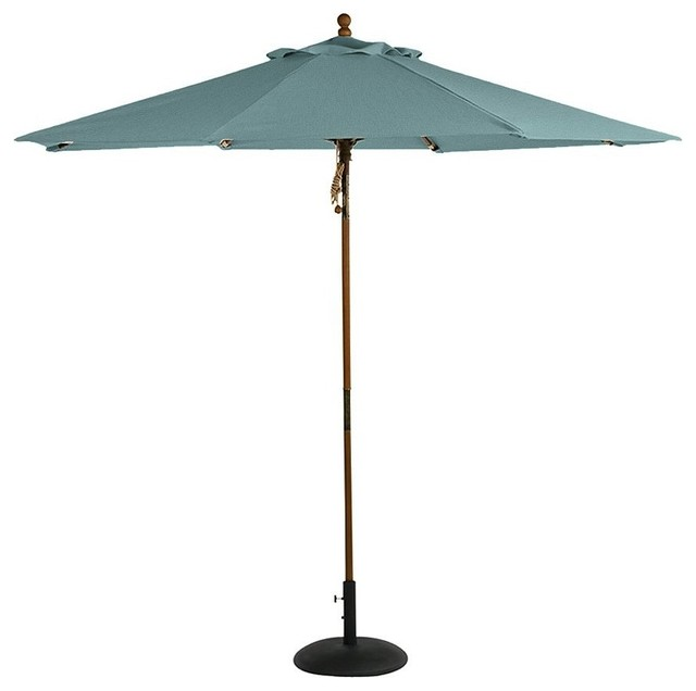 Round Market Umbrella Contemporary Outdoor Umbrellas