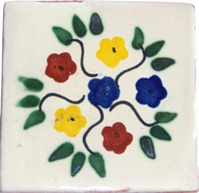 12 Hand Painted Made to Order Talavera Tile Set mediterranean-tile