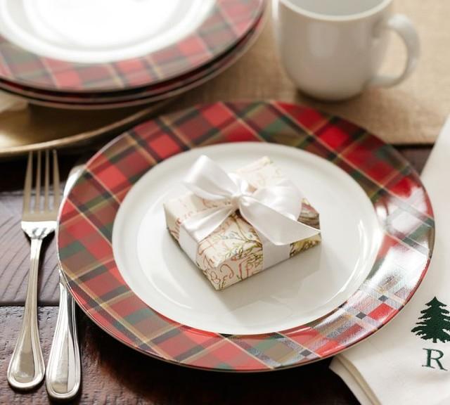 Pottery Barn Plaid Plates: Carson Plaid Salad Plates
