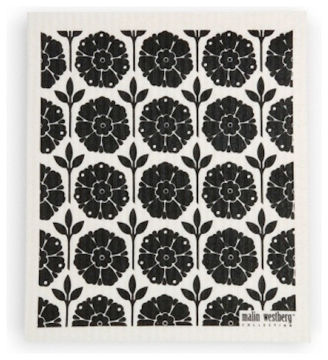 Swedish Dishcloth Garden, Black modern-dish-towels