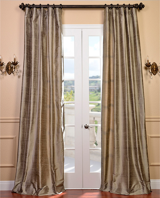 signature cashmere textured silk 96 inch curtain panel