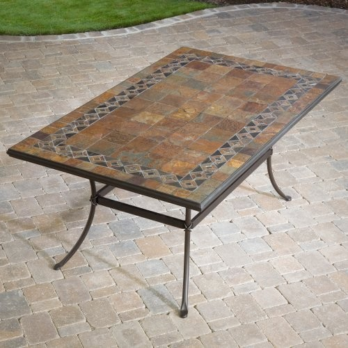 Palazetto 40 x 60 Inch Mosaic Dining Table contemporary-outdoor-tables