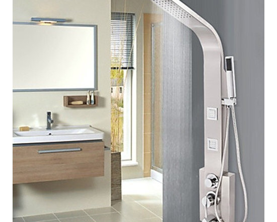 Shower Faucets - 47.2 Inch Contemporary Chrome Finish Stainless Steel Shower Faucet--FaucetSuperDeal.com