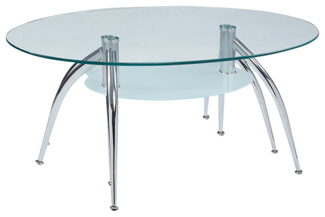 global furniture usa t659 oval glass coffee table with