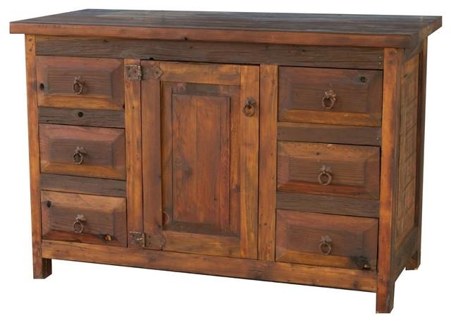 Old Wood Rustic Bathroom Vanity Rustic Bathroom Vanities And Sink Consoles By Foxden Decor