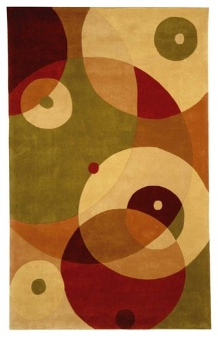 Rodeo Drive Rust/Multi Rug modern-rugs