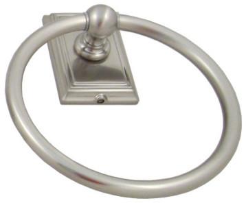 Westwood Towel Ring, Satin Nickel transitional-towel-rings