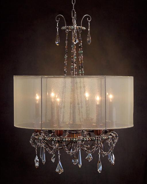 john richard 6 light chandelier ajc 8702 modern. Black Bedroom Furniture Sets. Home Design Ideas