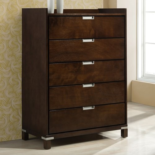 Lewiston 5 Drawer Chest - Brown Cherry contemporary-dressers
