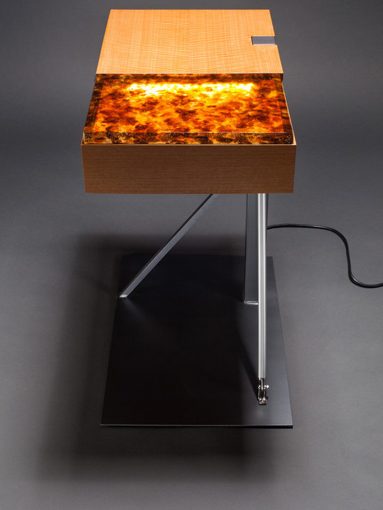 Amber Glow Side Table - Amber Glow is both functional and artistic, making it a perfect statement piece for the modern home, office or boutique hotel. Designed and handcrafted in the USA. Stewart Tilger Photography